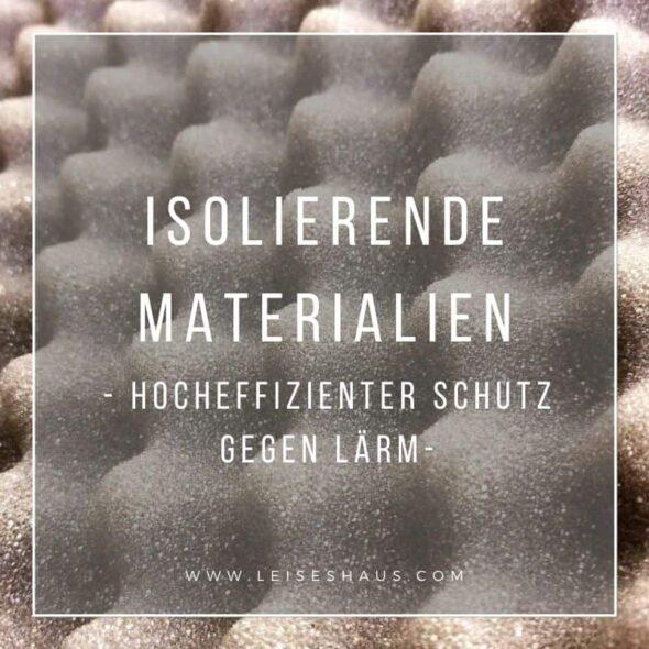 Hocheffiziente Materialien gegen Lärm