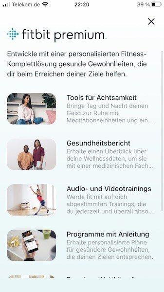 Zugang nur für Premiumnutzer. In den ersten 6 Monaten für Fitbit Sense Nutzer gratis. Danach 8,99€ im Monat.